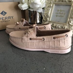 Rose Gold Pink Sperry Boat Shoes